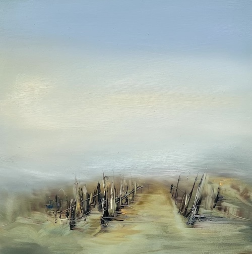 Weinberg im Nebel, 2021